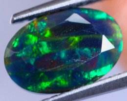1.40cts Natural Ethiopian Smoked Faceted Black Opal / RD426