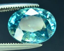 AAA Brilliance 4.70 ct Blue Zircon Cambodia