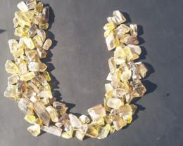 honey quartz crystals