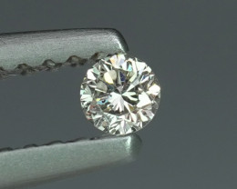 .07CT 2.6mm H COLOR VS NATURAL WHITE DIAMOND $1NR!