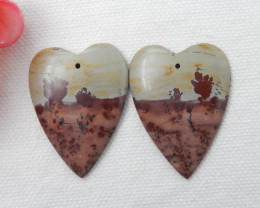 55CTS Beautiful Natural Chohua Jasper Earring Beads, Healing Stone F193