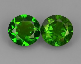 1.40 Cts MARVELOUS RARE CUSHION NATURAL TOP GREEN- CHROME DIOPSIDE