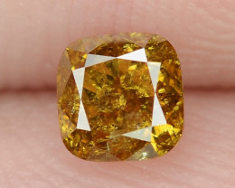 0.34 Cts Untreated Fancy Orange  Color Natural Loose Diamond