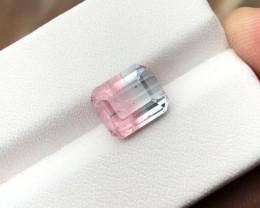 3.40 Ct Natural Bi Color Transparent Ring Size Tourmaline Gemstone