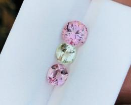 3.05 Ct Natural Green & Pink Transparent Tourmaline Gems Parcels