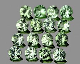 1.60 mm Round Machine Cut 40 pcs 1.03cts Green Sapphire [VVS]