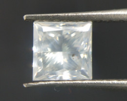 Princess Cut Diamond , Milky White , 0.70 cts