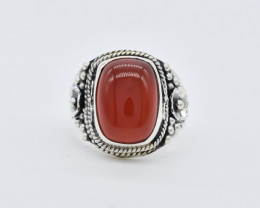 CARNELIAN RING 925 STERLING SILVER NATURAL GEMSTONE FREE SHIPPING  JR151