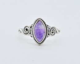 AMETHYST RING 925 STERLING SILVER NATURAL GEMSTONE FREE SHIPPING  JR155