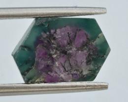 Rarest 3.70 ct Trapiche Pink Kashmir Sapphire Slice ~ T
