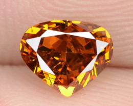 0.54 Cts Untreated Fancy Vivid Orange Natural Loose Diamond