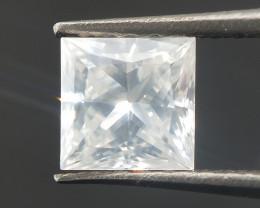 Milky White Diamond , Princess Cut , Loose Setting stone , 0.53 cts
