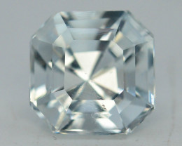 Top Asscher Cut 3.40 ct Natural  Attractive Color Aquamarine ~ B G