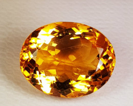 6.16 ct Top Grade Excellent Golden Whiskey Oval Cut Natural Citrine