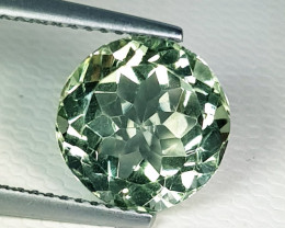 3.84 ct Top Quality Awesome Round Cut Natural Green Amethyst