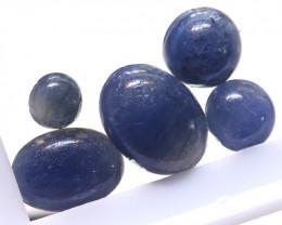 4.05 cts   Natural Blue Sapphire Oval Cabs parcel  (5 pcs ) ADG-1689