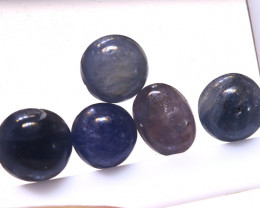5.45 cts   Natural Blue Sapphire Oval Cabs parcel ( 5 pcs ) ADG-1696