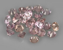 0.65 Cts Natural Intense Beautiful pink Sapphire round Shape Parcel!!!