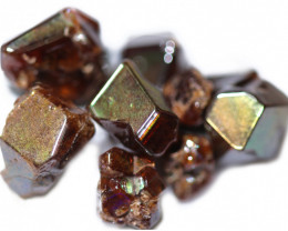 38.22 CTS RARE RAINBOW GARNET TUMBLED PARCEL FROM JAPAN [MGW5450]