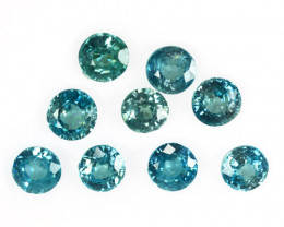 14.08Cts Natural Sparkling Blue Zircon 6mm Round Parcel Cambodia