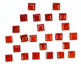 5.43 Cts Natural Reddish Orange Fire Opal 4mm Square 24Pcs Mexican