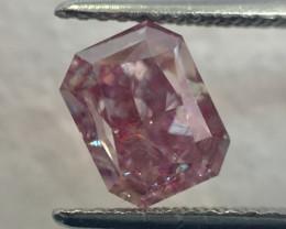 GIA Certificate Radiant 2.01 Carat Fancy Brownish Purplish Pink Natural Loo