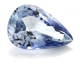 2.13 ct Pear Shape Blue Sapphire: Light Blue
