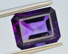 3.40 CT Natural Tremendous Color Fancy Cut Amethyst ~
