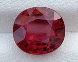 3.57 Carats Natural Color Rubellite Tourmaline Gemstone