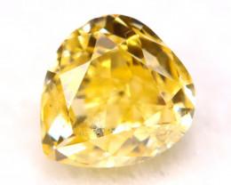Yellow Diamond 0.28Ct Natural Untreated Fancy Yellow Color Diamond B1203