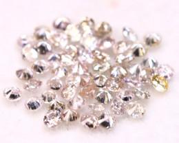 Pink Diamond 1.30mm 56Pcs Natural Fancy Round Brilliant Cut Diamond B1221