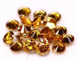 Champagne Diamond 0.88Ct 20Pcs Natural Untreated Fancy Color Diamond B1223