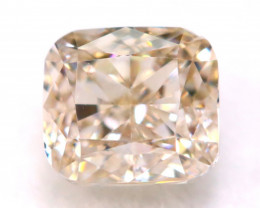 Peach Pink Diamond 0.28Ct Natural Untreated Fancy Pink Color Diamond B1228