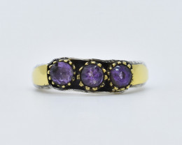 AMETHYST RING 925 STERLING SILVER NATURAL GEMSTONE FREE SHIPPING JR368