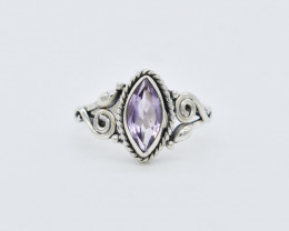 AMETHYST RING 925 STERLING SILVER NATURAL GEMSTONE FREE SHIPPING JR96