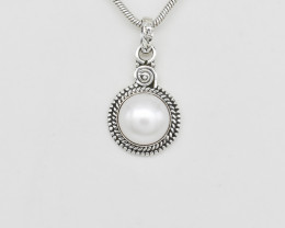 PEARL PENDANT 925 STERLING SILVER NATURAL GEMSTONE FREE SHIPPING JP166