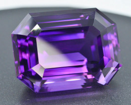 AAA Grade 71.85 ct Natural Fancy Cut Amethyst