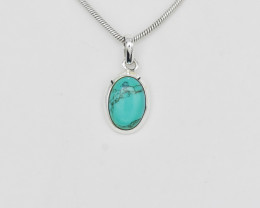 TURQUOISE PENDANT 925 STERLING SILVER NATURAL GEMSTONE FREE SHIPPING JP124