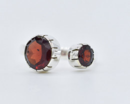 GARNET RING 925 STERLING SILVER NATURAL GEMSTONE FREE SHIPPING JR355