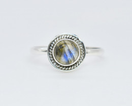 LABRADORITE RING 925 STERLING SILVER NATURAL GEMSTONE FREE SHIPPING JR111