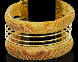 Vintage Fashion Gold Plated Bangle Jewelry