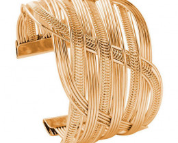 Vintage Women Fashion Gold Plated Bangle  Wristband Jewelry