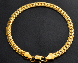 Gold Plated Bracelet Wristband Jewelry 5MM