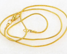 1Pc Fashion Gold Plated Snake Chain Necklace 43cm Jewerly