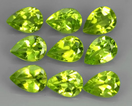 6.10 CTS NATURAL PERIDOT PEAR PARCEL 9 PCS