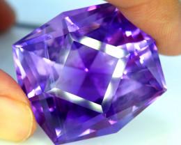 70.30 Carats Natural Top Color Fancy Cut Amethyst Gemstone