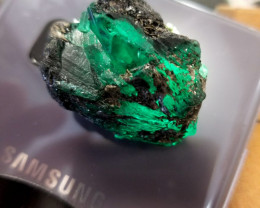 122 carat Eithopian Emerald  rich green