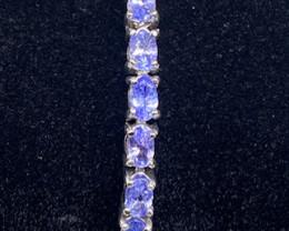 (i) Stunning 50tcw. Natural Tanzanite Bracelet Untreated