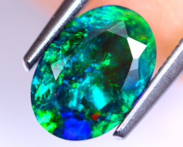 1.00cts Natural Ethiopian Smoked Faceted Black Opal / RD486