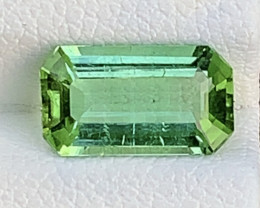 Mint Green 2.36 Carats Natural Color Tourmaline Gemstone FROM AFGHANISTAN